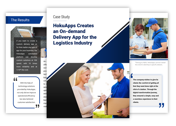 HokuApps creates an on-demand delivery app for the logistics industry