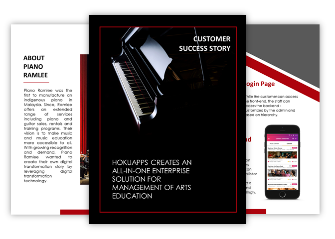 HokuApps creates an all-in-one enterprise solution for management of music Education and Retail