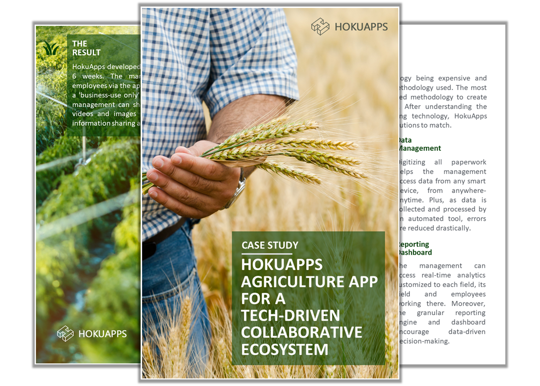Agriculture apps to craft a collaborative business ecosystem